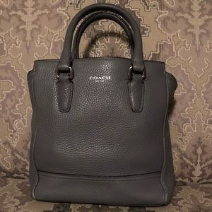 Coach Small Satchel Handbag- Gray